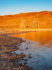Golden Calda (Highlandscape) Tags: sunset house castle stone scotland highlands rocks mark ruin places olympus highland ii features loch markii calda ardvreck assynt ardvreckcastle caldahouse lochassynt a837 em5 httphighlandscapezenfoliocom olympusem5markii