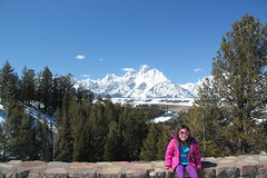 Jovie at the Snake River Overlook 1 (Aggiewelshes) Tags: travel winter snow april wyoming jacksonhole jovie grandtetonnationalpark 2016 gtnp snakeriveroverlook