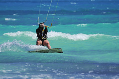 Kitesurfing (Clare Humphrey) Tags: sea kite beach water cuba surfing kitesurfing watersports varadero