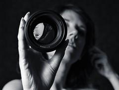 My Junk  :) (kate.millerwilson) Tags: blackandwhite selfportrait lens refraction selfie strobist nikkor60mm28d nikond7100 nikkor85mm18g