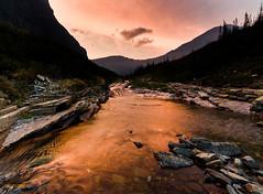 Stream at Sunset (bitchinlight) Tags: sunset zeiss montana stream glaciernationalpark goldenlight sonyalpha distagon1528 distagont2815 distagon1528ze sonya7rii