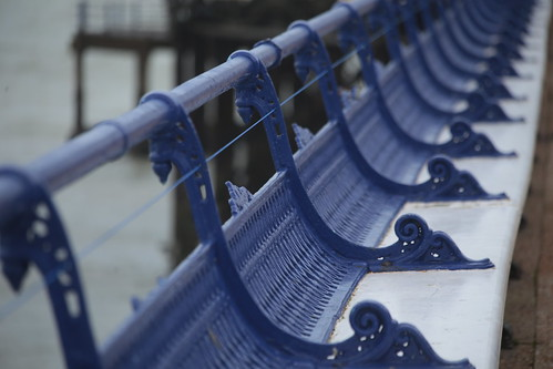 blue bench pier seats eastbourne