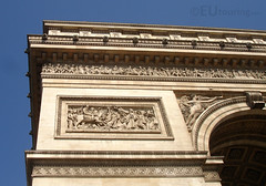 Details of the Arc de Triomphe (eutouring) Tags: travel sculpture paris france detail architecture design arch details arc arcdetriomphe