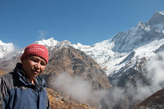 Pasang Dai (Pooja Pant) Tags: nepal mountains beautiful trek abc annapurna annapurnabasecamp macchapuchre