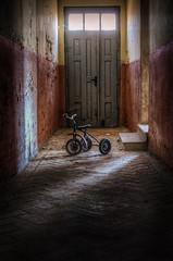 COZ_8509-copy (cozmicberliner) Tags: door abandoned bike germany toy lost spooky forgotten urbex childern