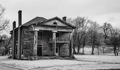 southern decline (Rodney Harvey) Tags: house fall abandoned architecture greek birmingham ominous south alabama spooky southern plantation infrared mansion stark antebellum decline rivival