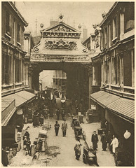 London markets: Leadenhall Market (Simon_K) Tags: old 1920s urban streets london sepia wonderful lost image before days nostalgia photograph forgotten times roads yesterday scenes olden trades twenties howweusedtolive photogravure wonderfullondon stjohnadcock alarecherchedetempsperdu donaldmacleish