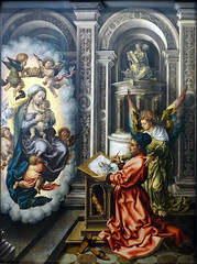 Gossaert, Saint Luke Painting the Madonna