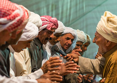men singing during a wedding ceremony, Qeshm Island, Tabl , Iran (Eric Lafforgue) Tags: wedding people music men horizontal night togetherness dance clothing asia dancers singing dancing iran muslim islam traditional ceremony culture traditions marriage persia folklore dancer tent east celebration indoors entertainment tabi arab turban cheerful custom eastern groupofpeople cultures adultsonly cultural islamic customs ethnicity middleeastern persiangulf traditionalculture sunni qeshmisland menonly traditionalclothing culturally hormozgan tabl   5people  iro seniormen straitofhormuz  colourpicture  iran034i8876