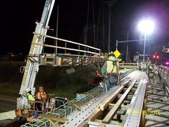 Setting bridge girders in Lakewood (WSDOT) Tags: cm lakewood interstate5 madiganaccessimprovements