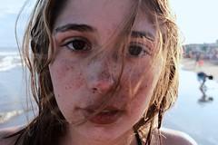 (julsyg) Tags: morning red sea brown lake cold water girl look swimming swim hair intense eyes agua skin lips spots freckles frio pecas swa