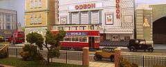 A view from the park (kingsway john) Tags: cinema london scale buildings layout model transport models tram bank card kits local oo gauge tramway odeon diorama kingsway tailors burtons 176 oogauge