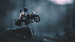 Up and Over (3rd-Rate Photography) Tags: robin canon 50mm lego florida 1966 batman jacksonville tvshow minifig dccomics gotham minifigure adamwest burtward batcycle 76052 5dmarkiii earlware 3rdratephotography