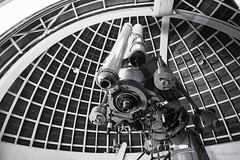 broadened perspective (cherryspicks) Tags: sky blackandwhite monochrome zeiss losangeles perspective machine engineering science observatory telescope astronomy griffith