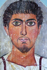 Mask of a young man (Nick in exsilio) Tags: portrait mask roman egypt empire egyptian mummy britishmuseum encaustic toga funerary