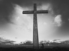 Cross and a child. (mark_gusev) Tags: white black cross religion