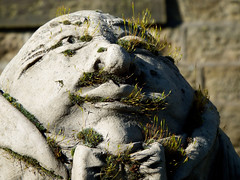 Gather (vintage vix - Everything is a miracle) Tags: sunlight statue moss humptydumpty