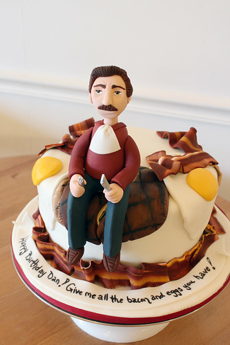 Ron Swanson Bacon Eggs Cake