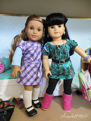 Claudia Kishi and Stacy McGill: BFFs Forever (scarlett1854) Tags: doll 4 collection ag americangirl agdoll claudiakishi thebabysittersclub leaclark goty2016 stacymcgill