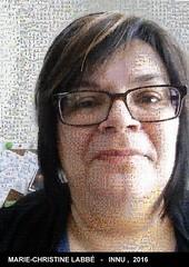 Le selfie de Marie-Christine Labbé de Pessamit recomposé avec 3000 images des films de Wapikoni mobile. À votre tour de participer: ashu-takusseu.com