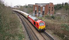 Nunhead Junction (McTumshie) Tags: england london train diesel unitedkingdom transport railway dbs class67 67013 dbschenker belmondbritishpullman 27february2016 193z