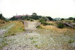 Mangotsfield station (5), 1977 (Blue-pelican-railway) Tags: film station bristol closed railway junction midlandrailway mangotsfield beeching
