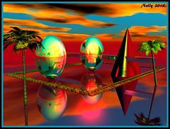 *Happy... (MONKEY50) Tags: abstract colors digital easter psp eggs bryce musictomyeyes autofocus artdigital shockofthenew flickraward awardtree contactgroups exoticimage netartii