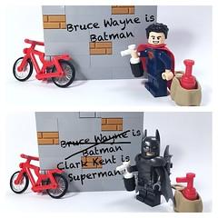 Batman v Superman #Lego (mattosborne325) Tags: lego superman batman minifig minifigs dccomics superheroes minifigure minifigures