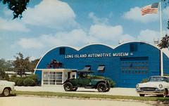 Long Island Automotive Museum, Southampton, New York (JFGryphon) Tags: vintagepostcard quonset quonsethut montaukhighway 55buick austieclark thelongislandautomotivemuseum 5254ford
