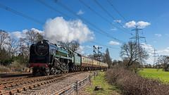 Green Power (4486Merlin) Tags: england europe leicestershire unitedkingdom transport steam signals railways midlands gbr greatcentralrailway heritagerailways 92214 swithlandreservoir exbr brstd9f2100 eastervintagefestival