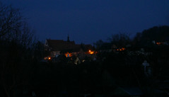 Little town at night (roomman) Tags: camera new trip light test night dark walking lumix lights evening tour escape weekend walk sightseeing poland panasonic guide sight sights excursion kazimierz nightwalk walkingtour organised 2016 kazimierzdolny sightseeingtour dolny lx100