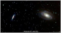 Galaxies M81 and M82 in Ursa Major (LeisurelyScientist.com) Tags: night canon stars timelapse space science galaxy astrophotography astronomy nightsky stacking messier ursamajor bigdipper astronomer 400mm m82 m81 deepsky bodes spiralgalaxy deepskystacker canon6d ioptron tomwildoner zeq25gt leisurelyscientist leisurelyscientistcom