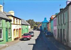 Sunny and Shady - Eyeries village - Beara peninsula, Ireland (stevelamb007) Tags: rural bearapeninsula westireland colorful stevelamb ireland cork eyeries village buildings architecture steet beara