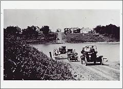 St. Agathe - Barge crossing the Red River, 1915 (vintage.winnipeg) Tags: canada history vintage historic manitoba stagathe ruralmanitoba