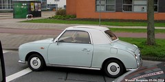 Nissan Figaro 1991 (XBXG) Tags: auto old holland classic netherlands car amsterdam japan japanese automobile nissan outdoor nederland voiture retro vehicle 1991 figaro paysbas japon ancienne japonaise nissanfigaro 6tkn90