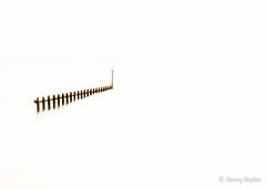 Minimal (JKmedia) Tags: red white art coast wooden artistic minimal coastal devon manmade highkey minimalism groin breakwater thirds dawlishwarren 15challengeswinner canoneos7dmarkii boultonphotography