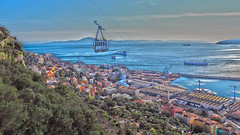 The Straits (s.palmer362) Tags: ocean docks boats atlasmountains cablecar therock themed gibraltar tankers dockyard rosia thestraits