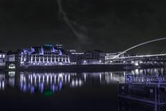 Gotham City (bas.handels) Tags: sky water clouds photoshop maastricht nederland wolken creepy spooky batman horror lightning gotham maas cluds edit limburg onweer zuidlimburg bliksem
