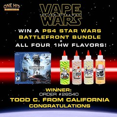 PS4 Star Wars Battlefront Bundle Winners... (bhackett3) Tags: clouds rocketman muffinman milkman onehitwonder cloudchasing vape flowflake 26540 180ml ejuice vaping eliquid uploaded:by=flickstagram vapeporn vapelyfe subohm vapelove vapestagram vapenation vapesociety instavape vapefam vapehooligans instagram:photo=11554535047919241631681191682 christinavapes meyersjustin