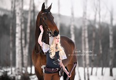 Spellthief Lux & Harley (Hestefotograf.com) Tags: show friends summer horse white black girl norway bareback jump mare dress lets lol hannah go run riding pony barefoot welsh cosplayer arabian elegant cob bestfriend rider equestrian canter equine equus equipage skien cosplaygirl spellthief