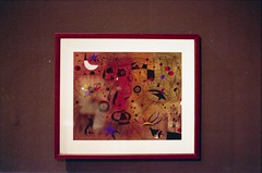 Constellations, 1940 by Joan Miro, july 2014 (Tefilo de Sales) Tags: italy rome roma art film museum analog 35mm painting 50mm nikon italia kodak roman museo expired miro constellations galleria gnam nikkormat analogic kodak200 gallerianazionaledartemoderna nikkormatel