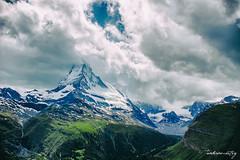 Moods of Matterhorn (ankur.mistry) Tags: summer sky mountain alps clouds canon switzerland swiss zermatt matterhorn swissalps