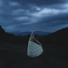 Through the storm (SamanthaLabrecque) Tags: storm mountains clouds darkness obstacle fineartphotography conceptualphotography samanthalabrecque