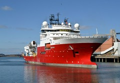 Fugro Saltire Blyth 250316 (silvermop) Tags: sea port river boats ship offshore ships blyth offshorevessels fugrosaltire