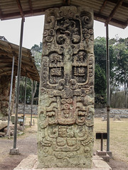 "Copan Ruinas: la Plaza Principal et ses stèles <a style=""margin-left:10px; font-size:0.8em;"" href=""http://www.flickr.com/photos/127723101@N04/25944604414/"" target=""_blank"">@flickr</a>"