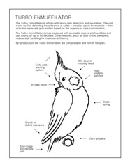 Turbo Enmuffilator (Calzephyr) Tags: pets white black funny view profile nobody humour diagram cartoons cockatiels