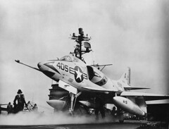 A Douglas A4D-2 Skyhawk of attack squadron VA-81 Crusaders about to launch from the USS Forrestal (CVA-59), 1962 [891  681] #HistoryPorn #history #retro http://ift.tt/1UgMchW (Histolines) Tags: from history attack retro timeline about launch douglas 1962 uss skyhawk 681 crusaders squadron forrestal  vinatage 891 a cva59 historyporn a4d2 va81 histolines httpifttt1ugmchw