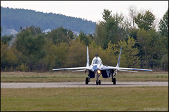 """MiG-29UB """"Channel One"""" (Pavel Vanka) Tags: plane airplane fly flying fighter russia moscow jet spot airshow planes spotting mig channelone mikoyan maks lii mig29 fulcrum mikoyangurevich ramenskoe zhukovskiy russianairforce mig29ub"""