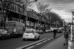 IMG_0495 (Nikan Likan) Tags: street sky cloud white black paris field vintage subway lens photography 50mm prime metro m42 manual pentacon f18 depth barbes | 2016 multicoated