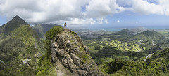 Pali Notch (Marvin Chandra) Tags: panorama nature landscape hawaii oahu hiking hiker 24mm palilookout 2016 d600 palinotches marvinchandra